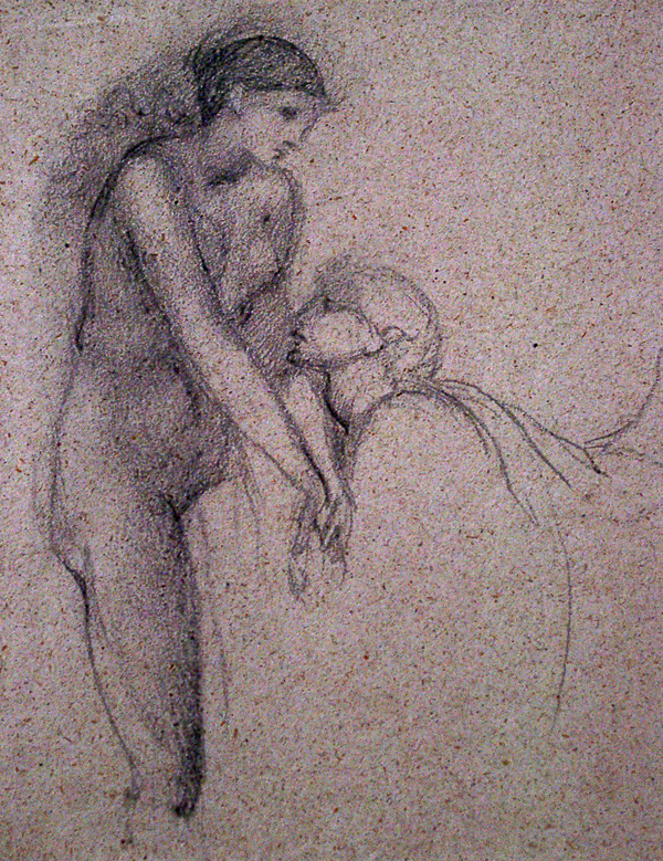 Burne-Jones, Edward Study for The Soul Attains, Pygmalion and Galatea
