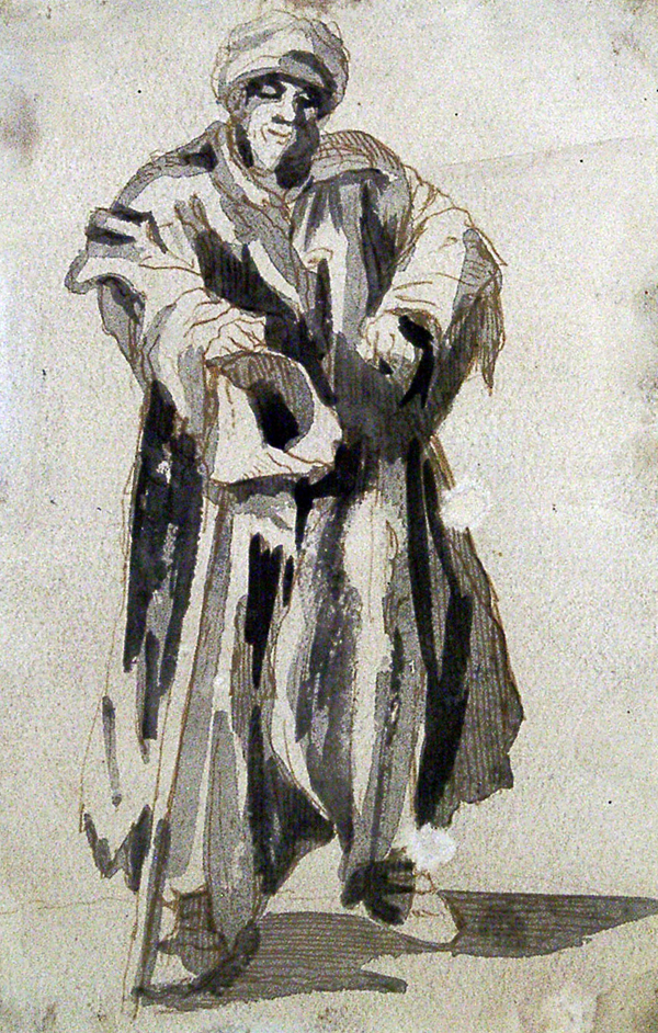 Callot, Jacques (attributed to) Beggar (From the series 'Mendiants de Paris')