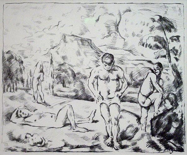 Cezanne, Paul Baigneurs (Grande Planche), Bathers, Large Plate