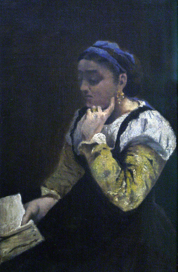 Corot, Camille (attributed to) Woman Reading