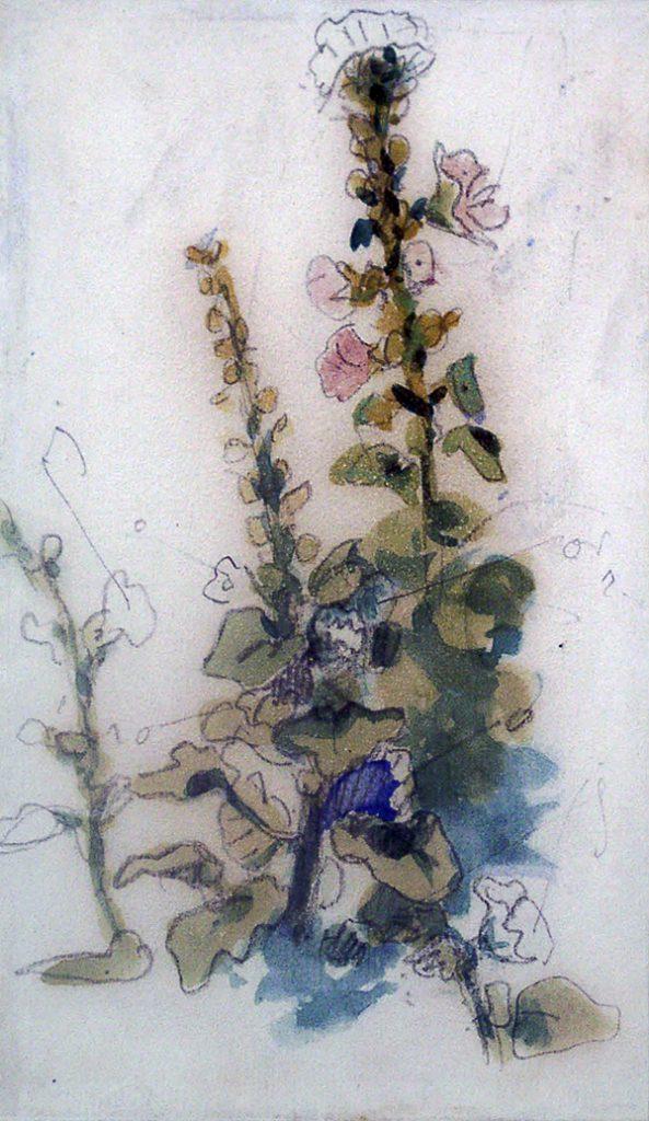 Delacroix, Eugene Rose Tremiere (Hollyhocks)
