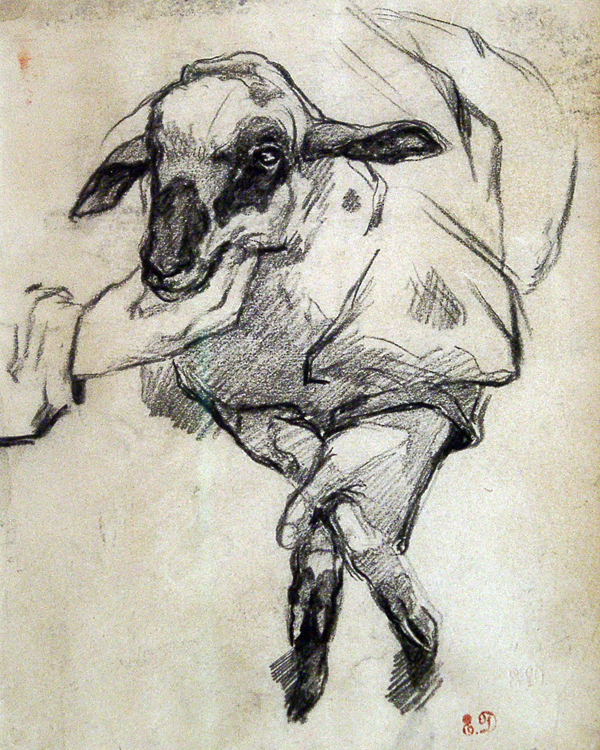 Delacroix, Eugene New Born Lamb
