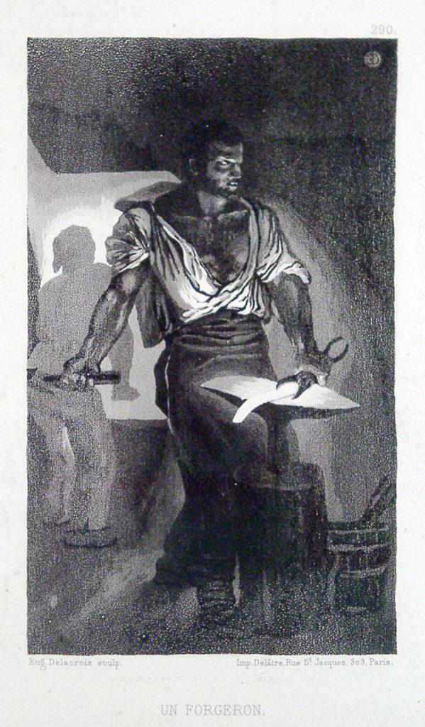 Delacroix, Eugene Un Forgeron (A Blacksmith)