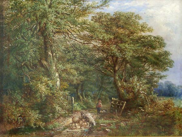 Ellis, William A Lane at Hamstead Staffordshire