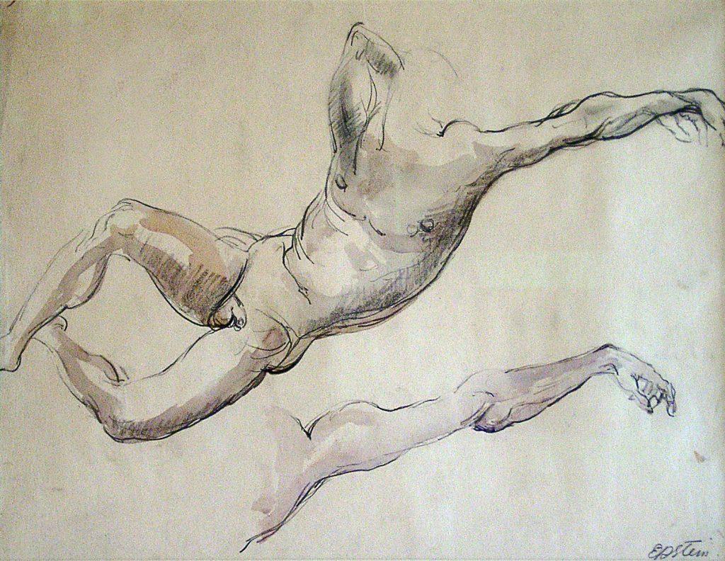 Epstein, Sir Jacob Figure Study, Male Nude (Adam)