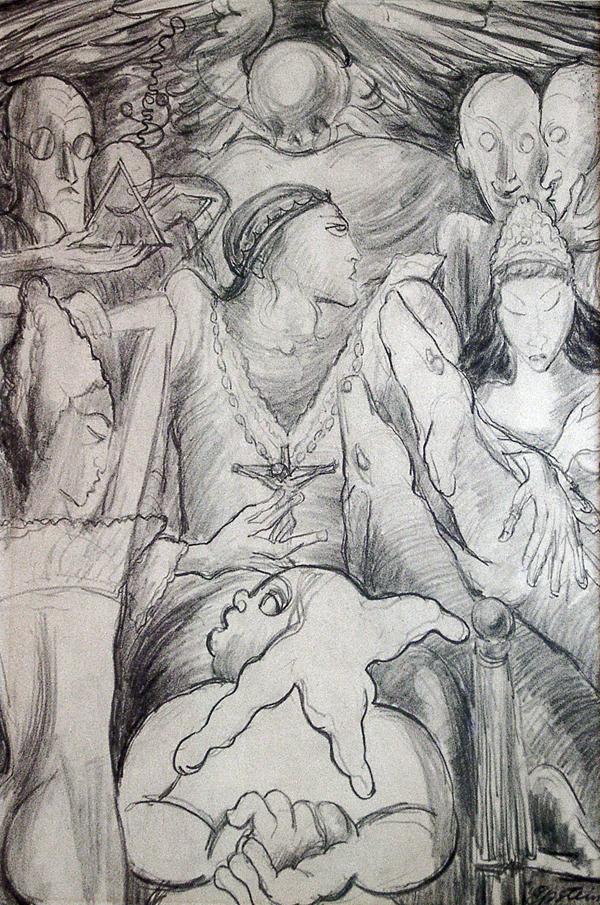 Epstein, Sir Jacob Le Roi d'un Pays Pluvieux (The King of a Rainy Country) Illustration for Baudelaire's Les Fleurs du Mal