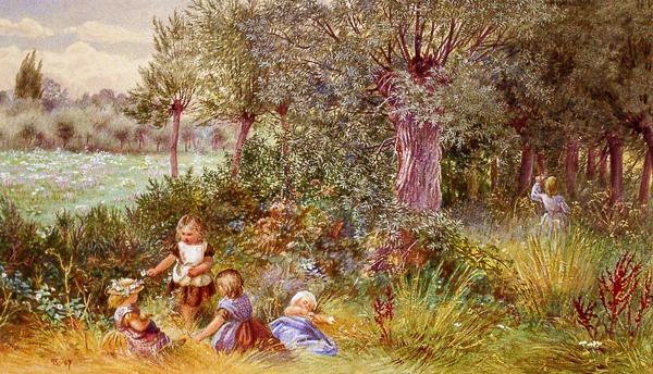 Foster, Myles Birkett (after) Children Playing in Wood