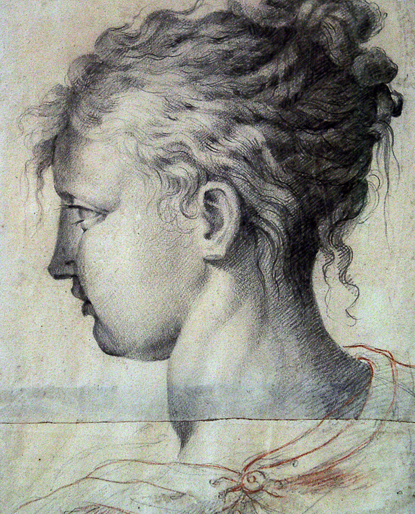 Parmigianino (after) Portrait of Girl with Curls