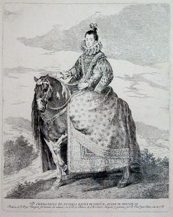Goya, Francisco de Margarita of Austria, Queen of Spain (after Velasquez)