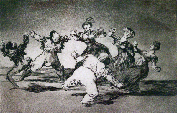 Goya, Francisco de Baile Grotesco (Grotesque Dance) (Plate 12 from the series 'Proverbios')