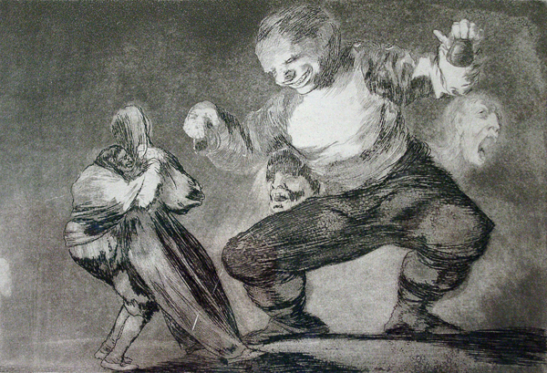 Goya, Francisco de Bobalicon (Blockhead) (From the series 'Proverbios')