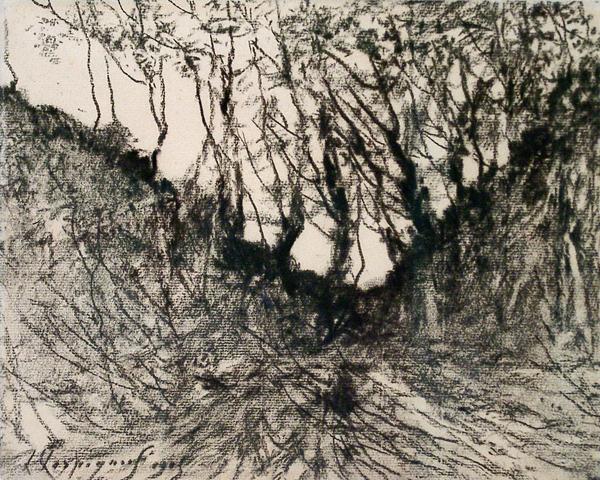 Harpignies, Henri-Joseph Study of Trees