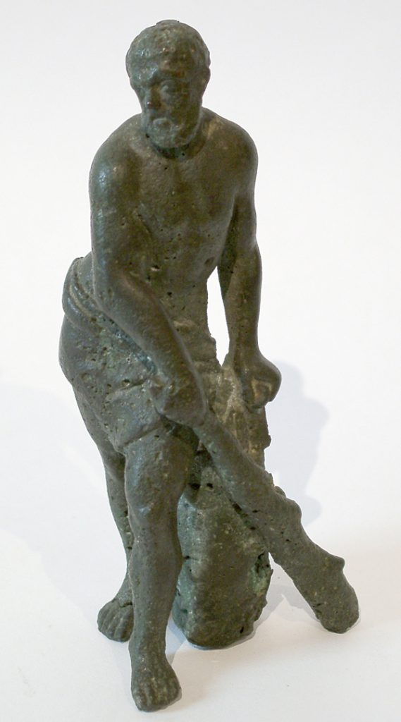 Unknown A Bronze Figure of Hercules Holding a Club in his Right Hand