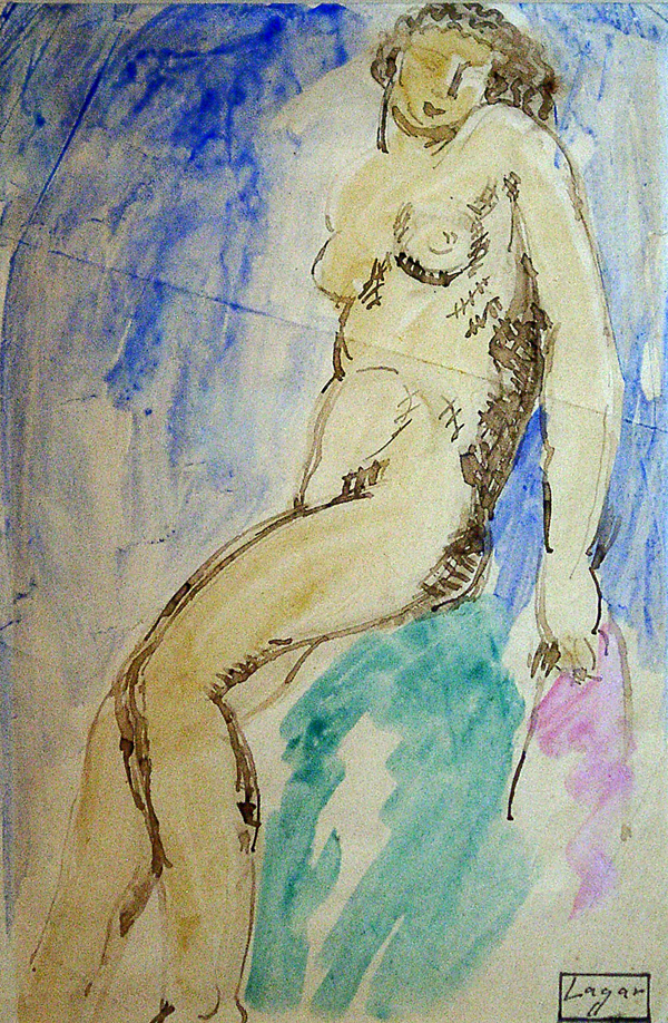 Lagar, Celso Nude (Seated Woman)