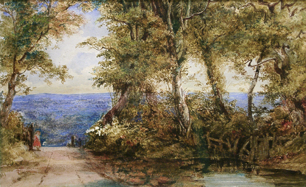 Fielding, Newton (attributed to) Russet Trees with Pool