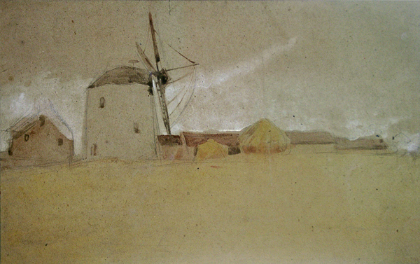 McEvoy, Ambrose Windmill with Farm
