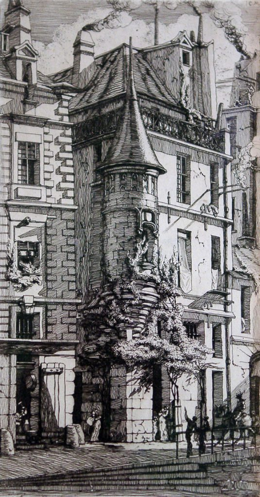 Meryon, Charles Tourelle de la Rue de la Tixeranderie (Turret of the Road of the Tixeranderie)
