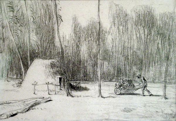 Millet, Jean-Francois Cabane du Charbonnier (The Charcoal Burner's Hut)