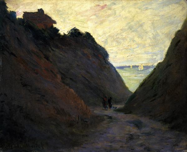 Monet, Claude Le Chemin Creux dans la Falaise a Varengeville (The Sunken Road in the Cliff at Varengeville)