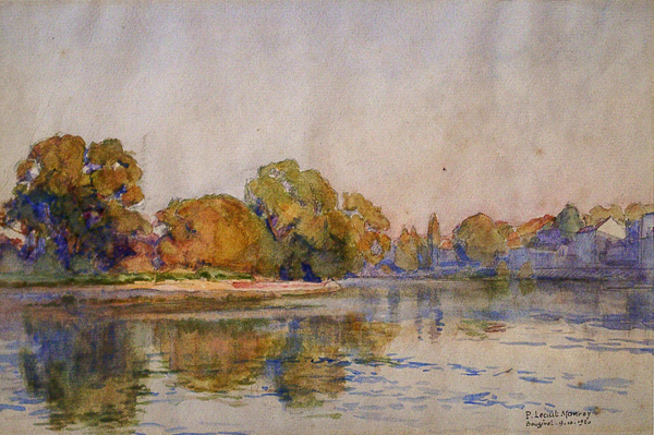 Lecuit-Monroy, Paul River Scene in Autumn, Bougival