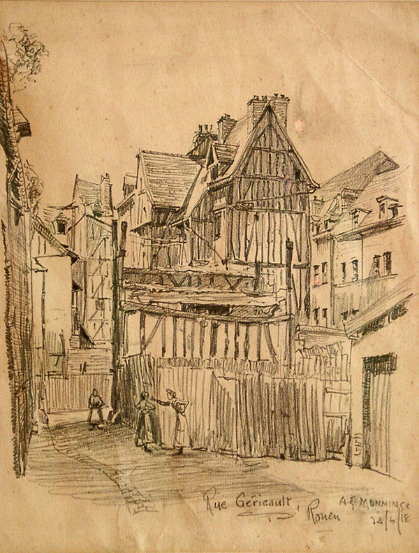 Munnings, Alfred (attributed to) The Rue Gericault, Rouen