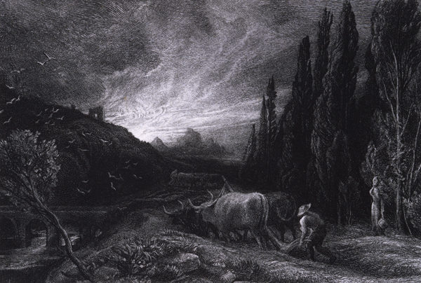 Palmer, Samuel The Early Ploughman (The Morning Spread Upon the Mountains)