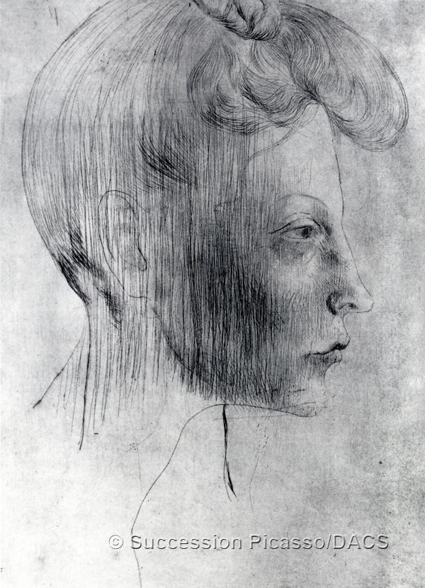Picasso, Pablo Tete de Femme en Profile (from the Saltimbanques suite) Head of Woman in Profile