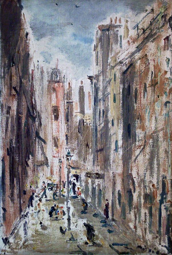 de Pisis, Filippo Street Scene in Italy
