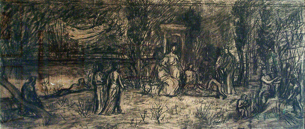 de Chavannes, Pierre Puvis Study for 'Le Bois Sacre' (The Sacred Wood)