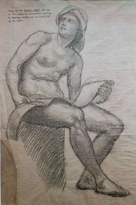 Richmond, William Blake Figure Study for the Delphic Sybil