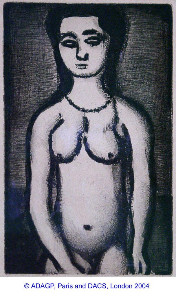 Rouault, Georges Femme Nue (Illustration for Baudelaire's Fleurs du Mal)