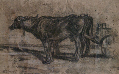 Troyon, Constant Oxen with Cart