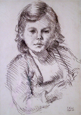 Ward, Frank Portrait Study of a Little Girl