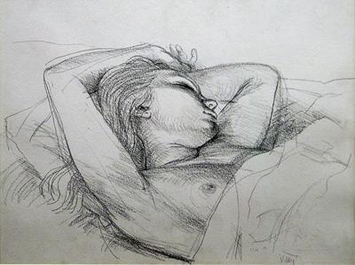 Wells, Ian Seymour Sleeping Girl, Vicky