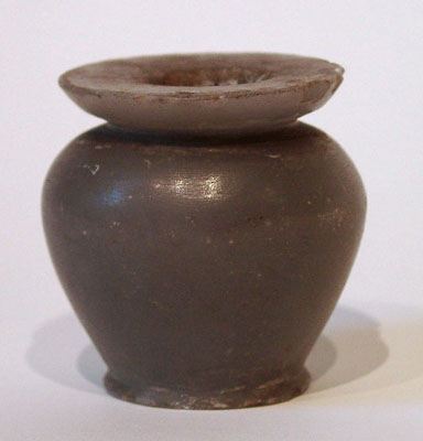 Unknown Egyptian Blue Marble Cosmetic Jar