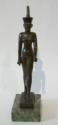 Unknown Egyptian Bronze Figure of the Goddess Neith
