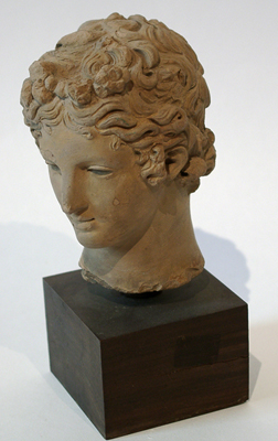 Unknown Hellenistic Pottery Head of a Youth