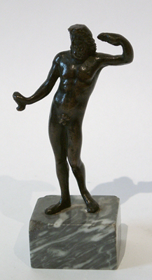 Unknown Bronze Standing Figure of a Bearded Man