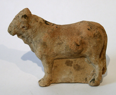 Unknown Greek Terracotta Figure of a Bull