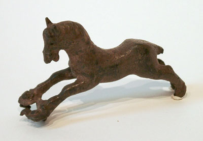 Unknown Sassanian Bronze Handle in the Form of a Horse