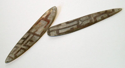 Unknown Two Polynesian Shell Ornaments