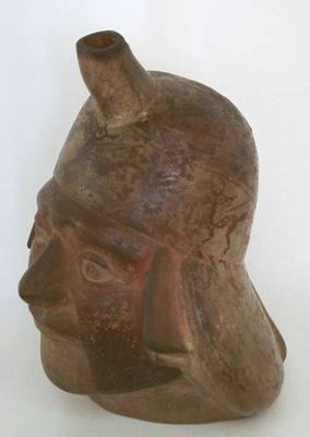 Unknown Moche Pottery Vase in the Form of a Head