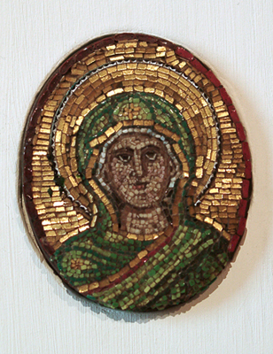 Unknown Mosaic Medallion in the Form of the Head of a Saint