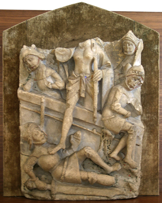 Unknown Nottingham Alabaster Relief of the 'Resurrection Group'