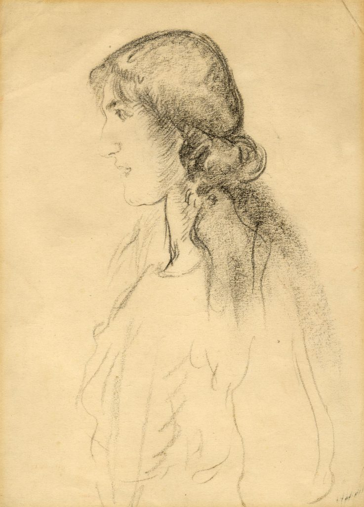 Epstein, Sir Jacob Half-length Portrait of a Young Woman, Standing