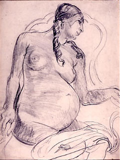 Epstein, Sir Jacob Drawing of Rebecca.