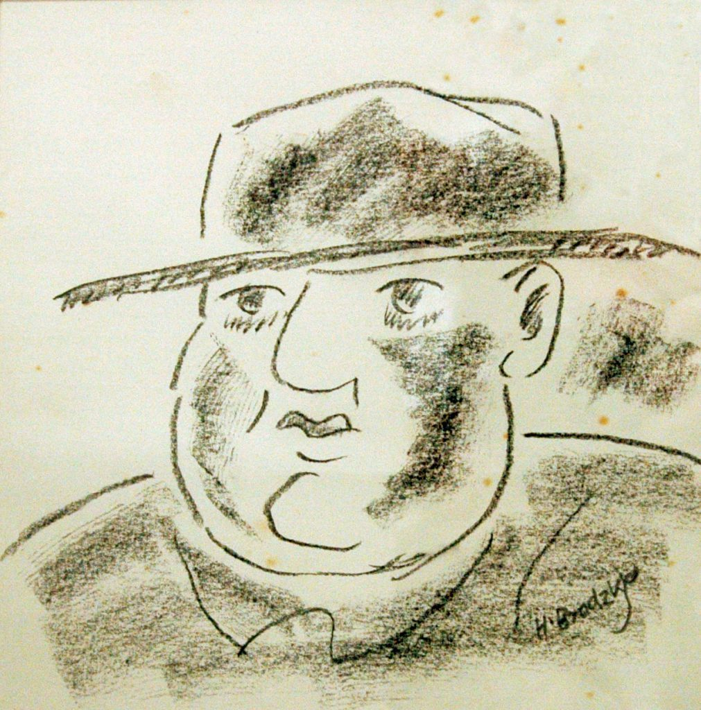 Brodzky, Horace Portrait of Jacob Epstein in the Cafe Royal – A Cafe Royal Impression