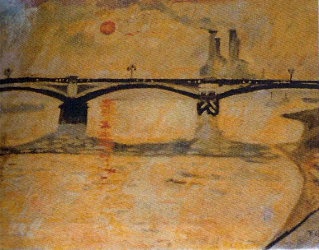 Garman, Theodore Battersea Bridge (Winter Sunset on the Thames)