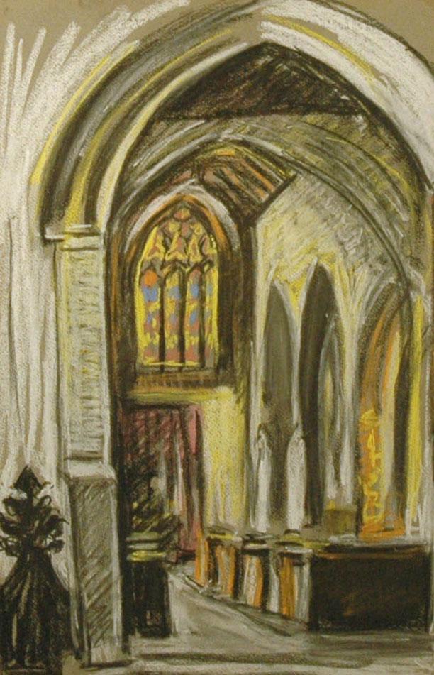 Garman, Theodore South Harting Church Interior (II)
