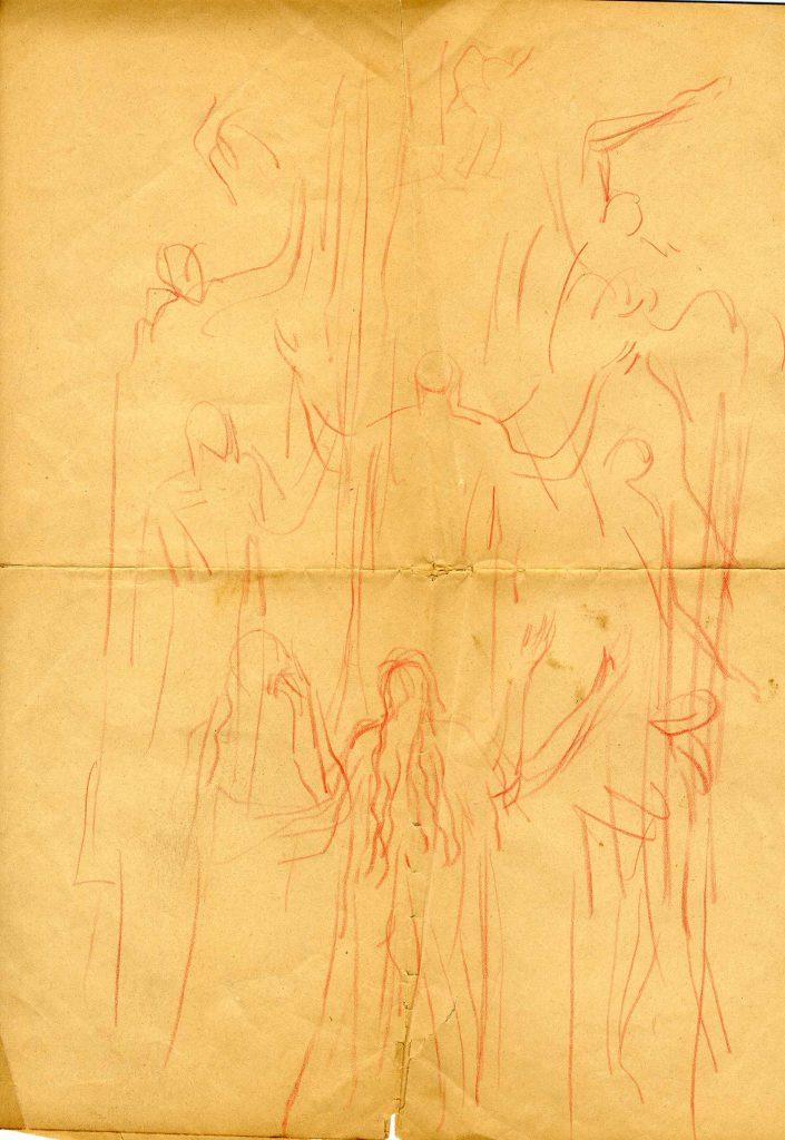 Epstein, Sir Jacob Sketch of Eight Figures